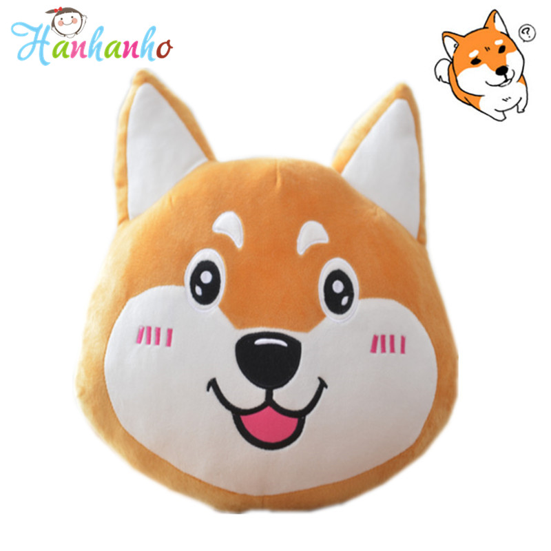 New Arrival Lovely Cartoon Dog Cushion Shiba Inu cloth Pillow Yellow Puppy Children Soft Doll Christmas Gift Girl Present 35cm 50cm 2018 new style chinese zodiac dog plush toys yellow dog pillow soft cushion christmas present for child shiba inu toy