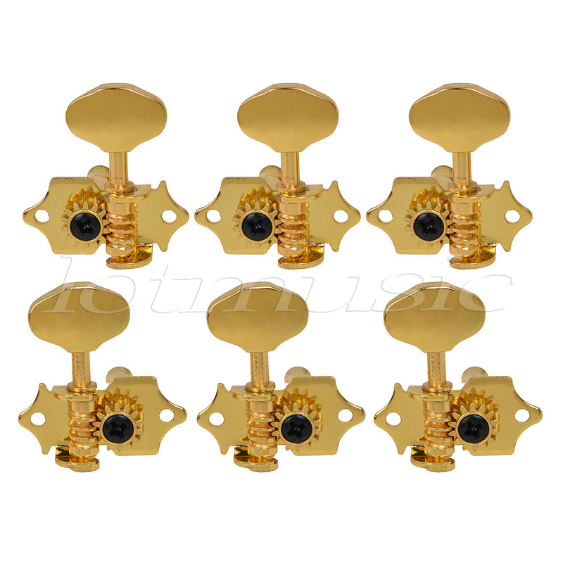Kmise Set of 6 Gold Guitar Tuning Peg Tuners Machine Head For sta-tite Replacement a set of 6 pcs gold sealed gear string tuning peg tuner machine head for acoustic electric guitar