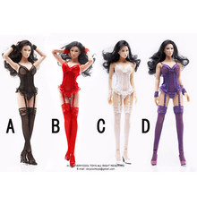 cf1d0074433 1 6 Scale Sexy Lace Corset with Gartering Stockings VCF2016 for 12