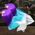 1 пара = 2 шт. Новый Градиент цвета Belly Dance, Вентиляторы Завесы для Женщин Девушки длинный этап Вентиляторы Вуаль для показать Танцоры бесплатная доставка