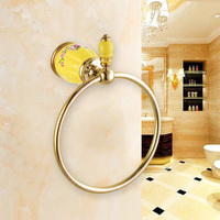 Luxury Brass Gold Towel Ring,Classic Towel Holder, Towel Bar Bathroom Accessories home decoration useful Free Shipping