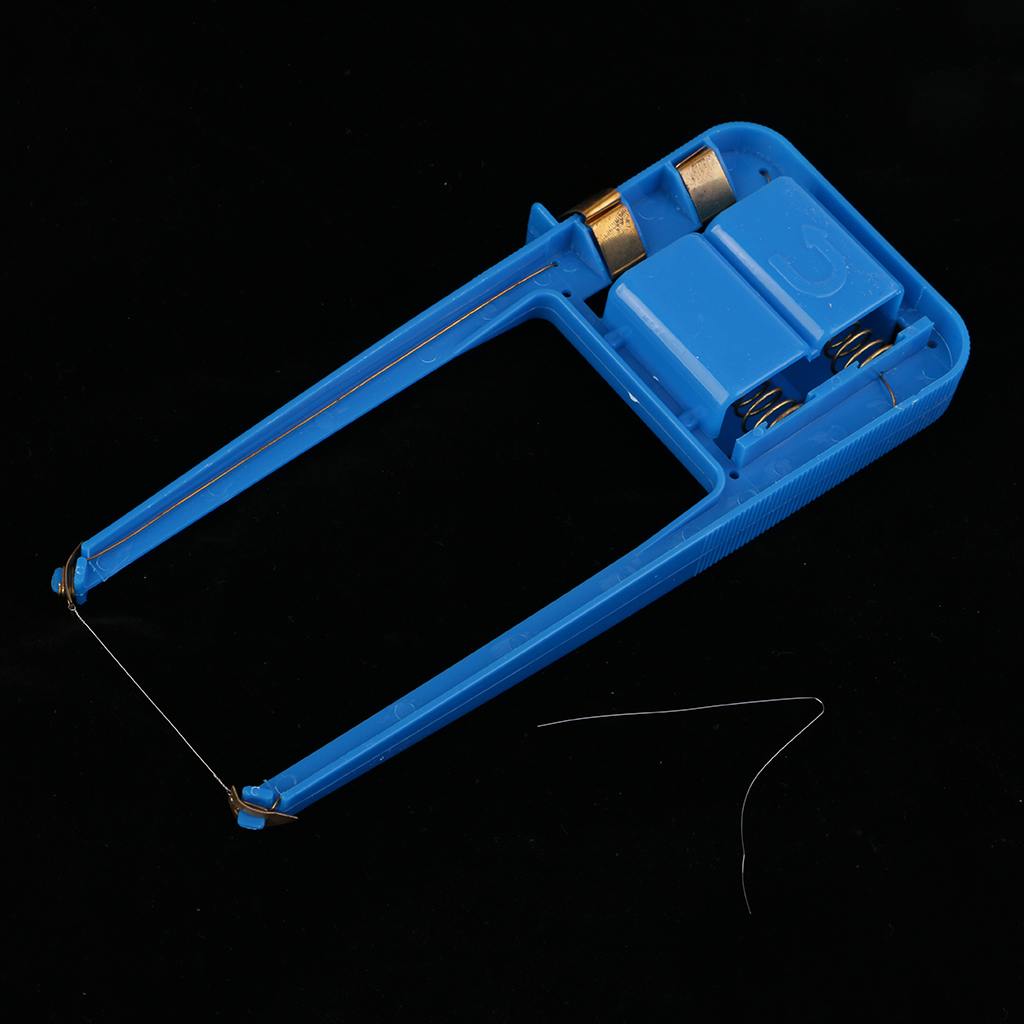 Plastic Blue Body Hot Wire Foam Cutter Durable Small Electric Wire Styrofoam Polystyrene Craft DIY Power Mould Tools 190x90x20mm craft hot knife styrofoam cutter 1pc 10cm pen cuts foam kt board wax cutting machine electronic voltage transformer adaptor
