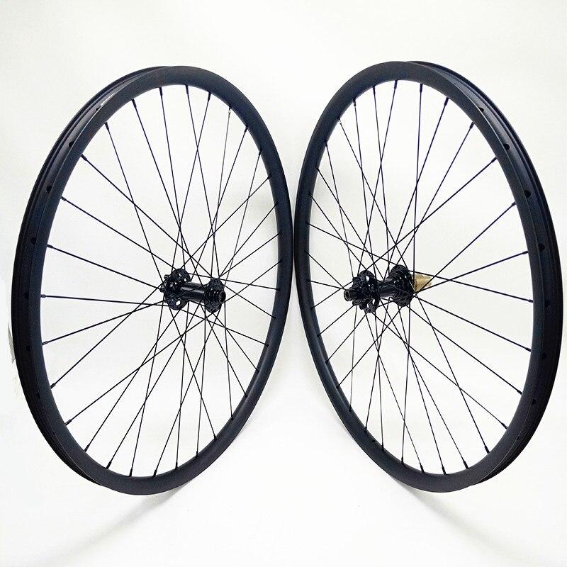 Roue de vélo vtt 29 roue à disque de vélo en carbone bitex boost 110x15mm 148x12mm roues en carbone 35mm largeur roue à disque 1430g
