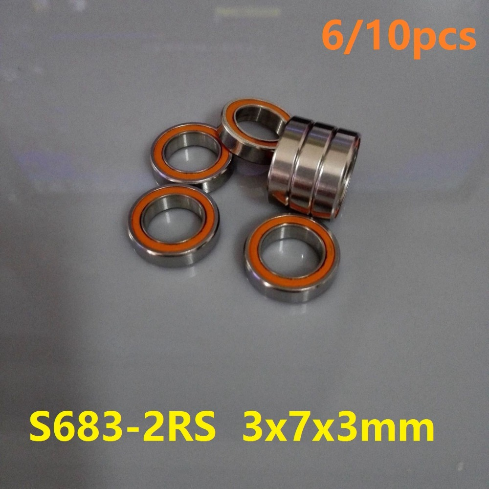 6pcs or 10pcs S683-2RS 3x7x3 mm ABEC-7 Stainless Steel hybrid Si3n4 ceramic bearing 683RS 683 2RS CB LD for fishing reel 3*7*3 100 pcs ld 3361ag 3 digit 0 36 green 7 segment led display common cathode