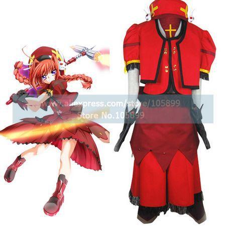 Magical Girl Lyrical Nanoha Vita Cosplay Costume