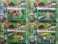 Оптовая продажа-5 компл. мультфильм Ben 10 часы и бумажник устанавливает с коробкой подарка Бесплатная доставка