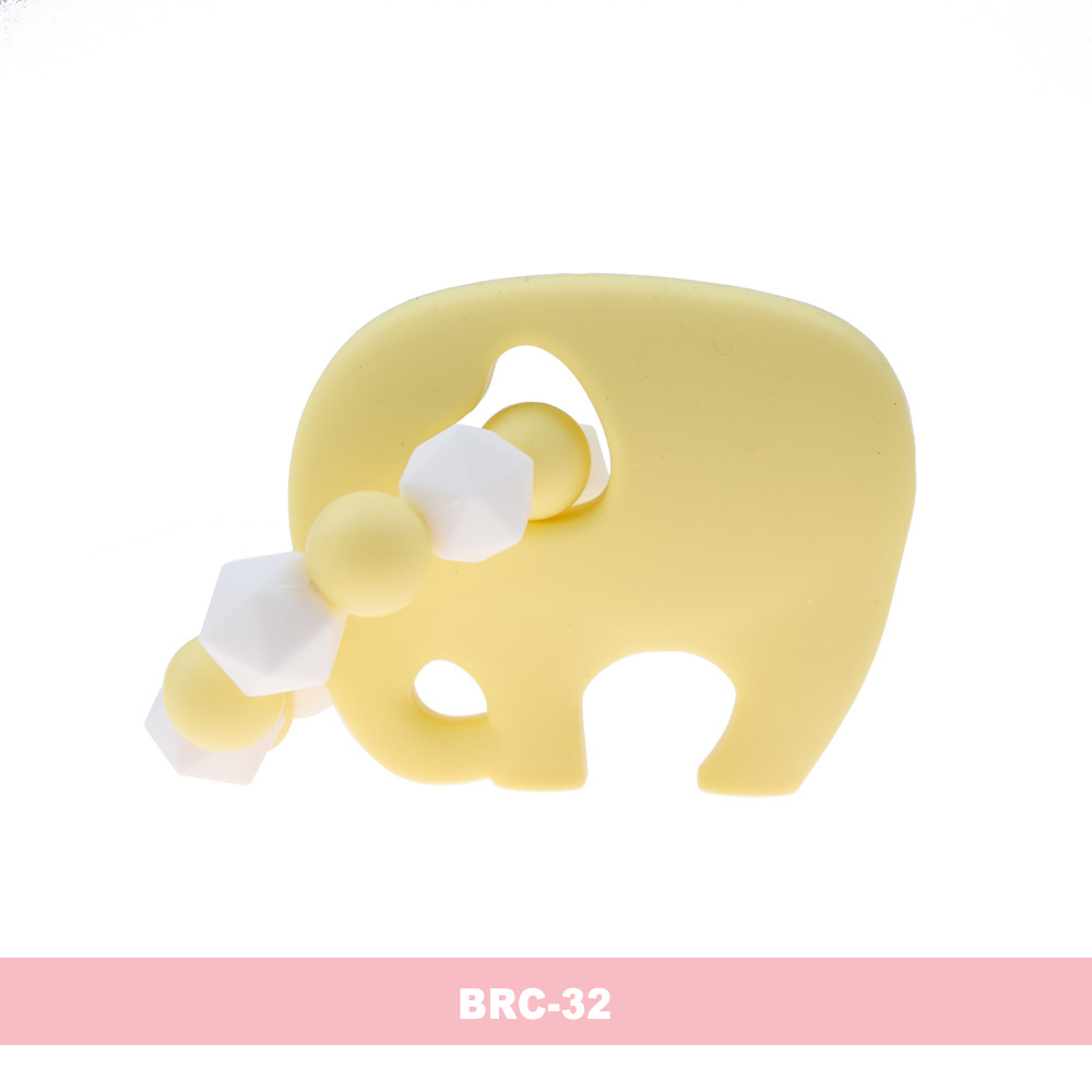 Cute Baby Teether Elephant Silicone Infant Teether Chew Ring Safe Best Toy LIN
