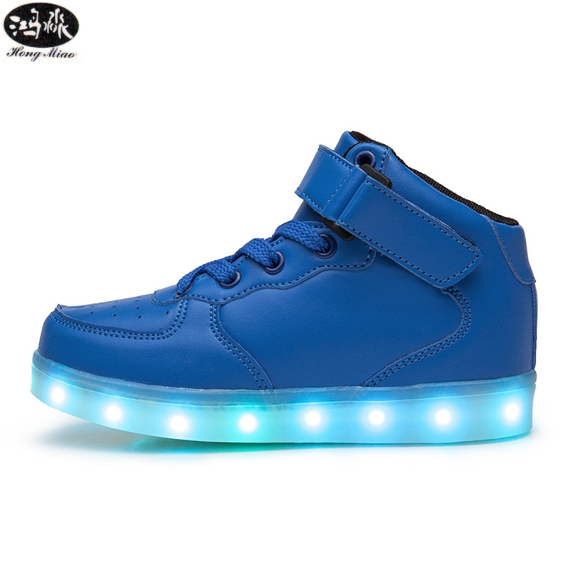 Glowing Sneakers Children Shoes Light Up 7 Colors USB Charge Sole Luminous Breathable Shoes Kids Led Light Sneakers joyyou brand usb children boys girls glowing luminous sneakers with light up led teenage kids shoes illuminate school footwear