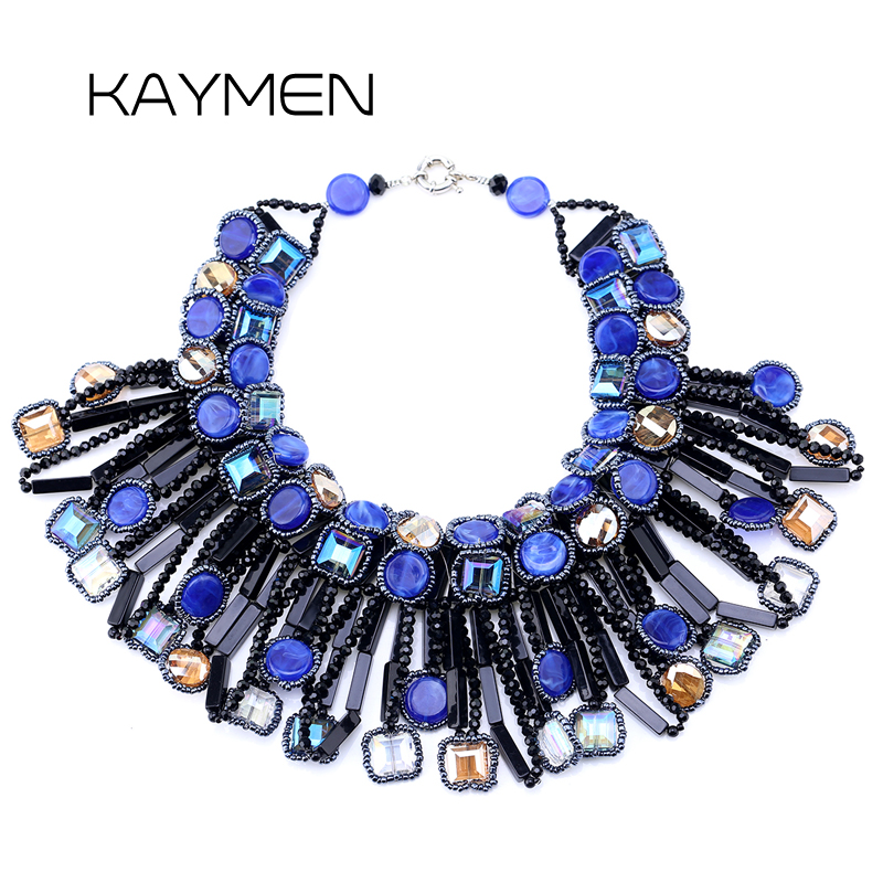 цена Unique Design on Aliexpress Hyperbole Crystal Strands Statement Torques Necklace for Wedding & Women Choker Party Necklace