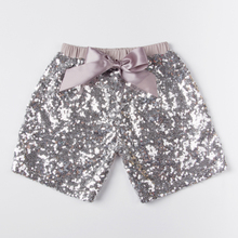 Free Shipping Baby Silver Sequins Short Sequins Petti Shorts For Baby Girls Short Pants KP-SEQUS05