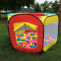 Play House Indoor And Outdoor Easy Folding Ball Pit Hideaway Tent Play Hut Garden Playhouse Kids