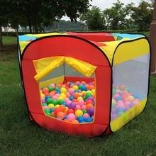 Играть дома крытый и открытый легкий складной океан пул боксе Игровая палатка играть в хижине девушки сад театр детская палатка для детей