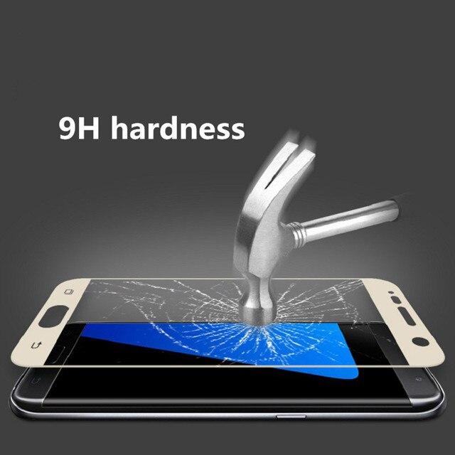 Pour Samsung S7 verre Galaxy S7 verre trempé MOFi pour Samsung Galaxy S7 film de protection décran 2.5D couverture complète S 7 protection