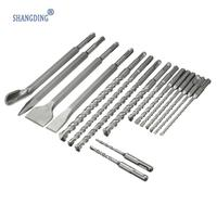 Wholesale Price 17Pcs Set Drill Bits Amp Chisel SDS Plus Rotary Hammer Bits Set Fit For