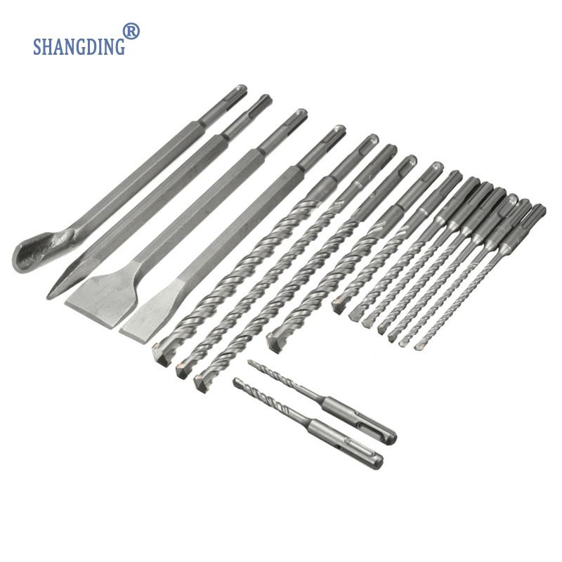 Wholesale Price 17Pcs/set Drill Bits& Chisel SDS Plus Rotary Hammer Bits Set Fit For Bosch Hilti Plus Wholesale Price