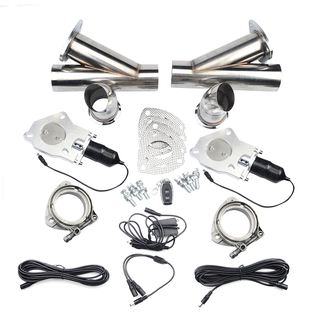 """2.0""""2.25""""2.5""""3.0"""" Exhaust Cut Out Control Cutout Stainless Steel Electric Exhaust Cutout Pipe Kit With Remote Control"""
