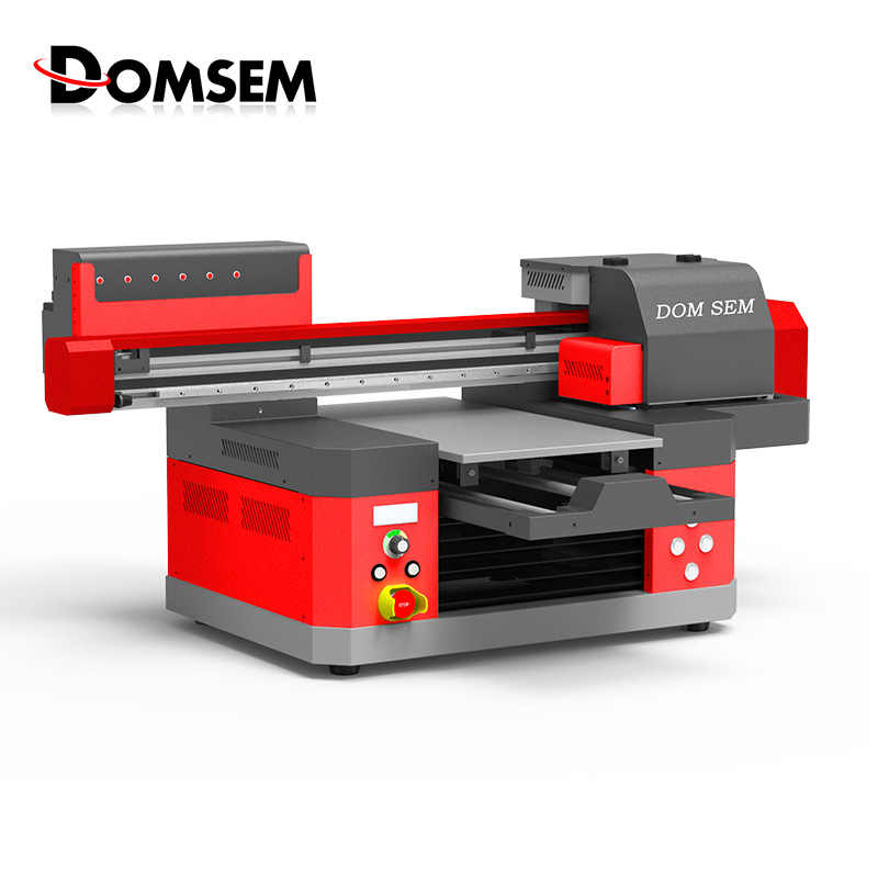 DOMSEM UV Printer 3360 A3+ Inkjet Flatbed Printer With Epson Dual Heads Varnish 3D Embossed Texture Printing High Speed