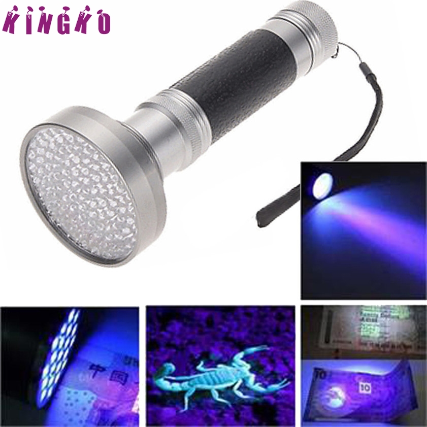 High Quality 100 LED UV Blacklight Scorpion Flashlight Super Bright Detection <font><b>Light</b></font> Outdoor2.0