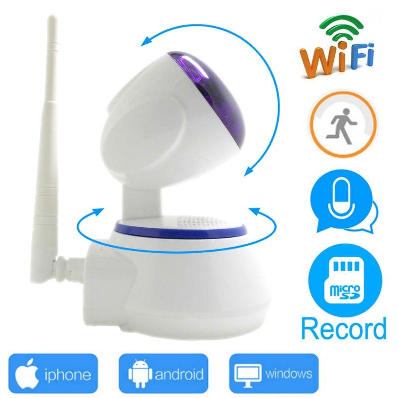 Câmera ip wi-wi-fi 720 p cctv mini câmera de segurança do sistema wi-fi em casa cartão micro sd sem fio ipcam ptz de vigilância infravermelho cam hd JIENU