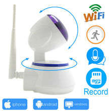 цена на ip camera wi-wifi 720p cctv security mini system wifi home wireless micro sd card ipcam infrared surveillance ptz cam HD JIENU
