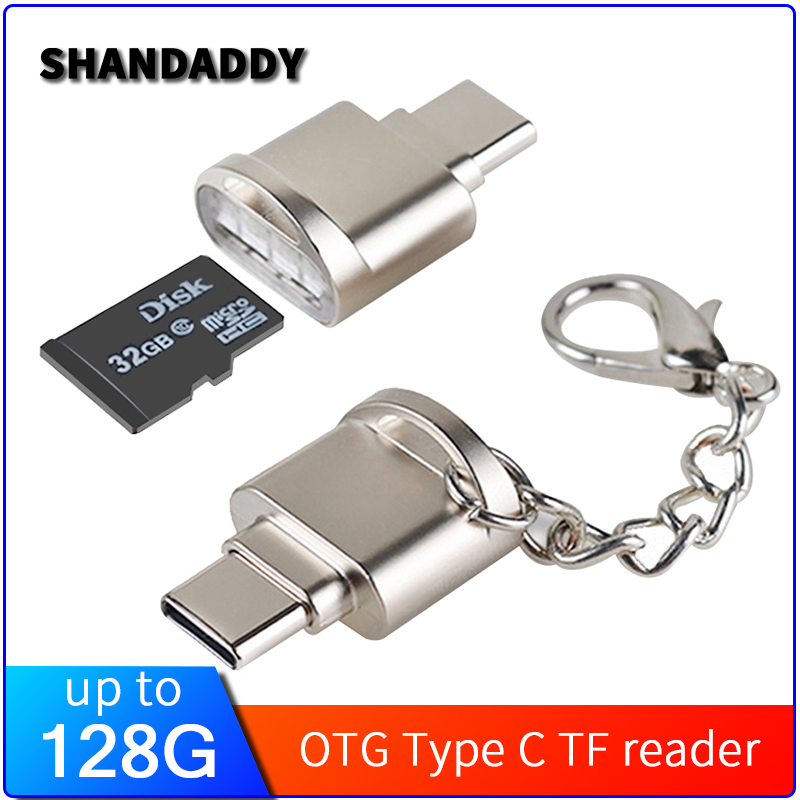 Portable Mini Type C 3.1 Interface Support Micro SD TF Memory Card Reader OTG USB Adapter For Samsung S8 S9 Note 9 For Mate 20