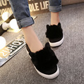 Creepers Platform Shoes Woman Casual Cat Ears Slip On Zapatos Mujer Ladies Shoes Women Flats 2016 Tenis Feminino