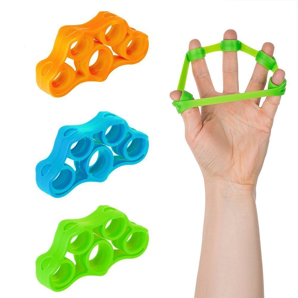 1PCS Finger Gripper Resistance Bands Finger Stretcher Silicone Hand Exerciser Grip Strength Wrist Trainer Fitness Equipment in Hand Grips from Sports Entertainment