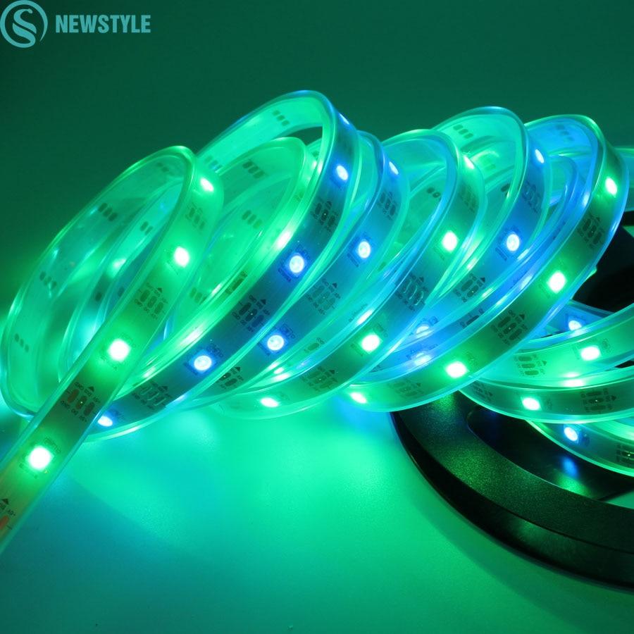 Indoor Outdoor Led Light Strip: 5M DC5V RGB Led Strip Light WS2812 Dream Color IP20/IP67