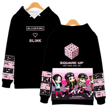 Korean Sweatshirt Kpop Blackpink Hoodie Sweatshirts Women Hip hop 3D Print Black Pink Hooded Causal Blackpink Pullovers Clothes(China)