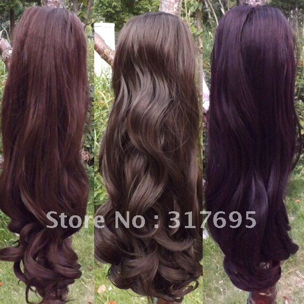 Free Shipping Korean High Temperature Fiber Ponytail Clips In