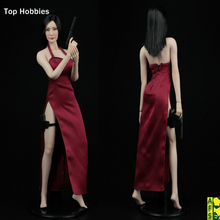 """1/6 Scale Kvinnlig Killer Cheongsam Klänning Suit Röd A003R Resident Evil Ada Wong ADA För 12 """"Seamless Toy Doll Phicen Action Figur"""