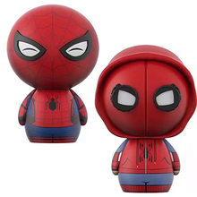 NEW hot 8 cm versão Q Avengers Spider-Man Homecoming coletores de Deadpool action figure brinquedos boneca de presente de Natal com caixa(China)