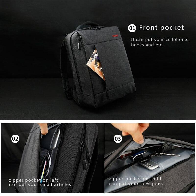 Tigernu Anti Theft Backpack Male Travel Bag Waterproof Laptop Men Backpacks For Teenager USB Charge School Bags Bagpack Mochila