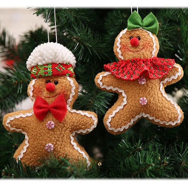 Merry Рождество пряник человек кукла игрушечные лошадки дерево висит подвесная Елочная игрушка украшения для дома натальные Ноэль Новый год украшения
