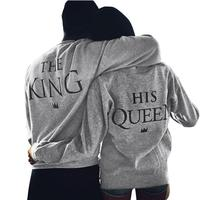 One Piece KING QUEEN Funny Letter Print T Shirt Women Men Tops Hipster Fashion Clothing Spring