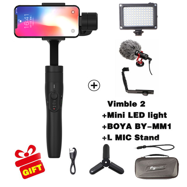 FeiyuTech FY Vimble 2 3 Axis Handheld Adjustable Gimbal Stabilizer For Smartphone iphone Samsung for xiaomi Pk OSMO MOBILE 2