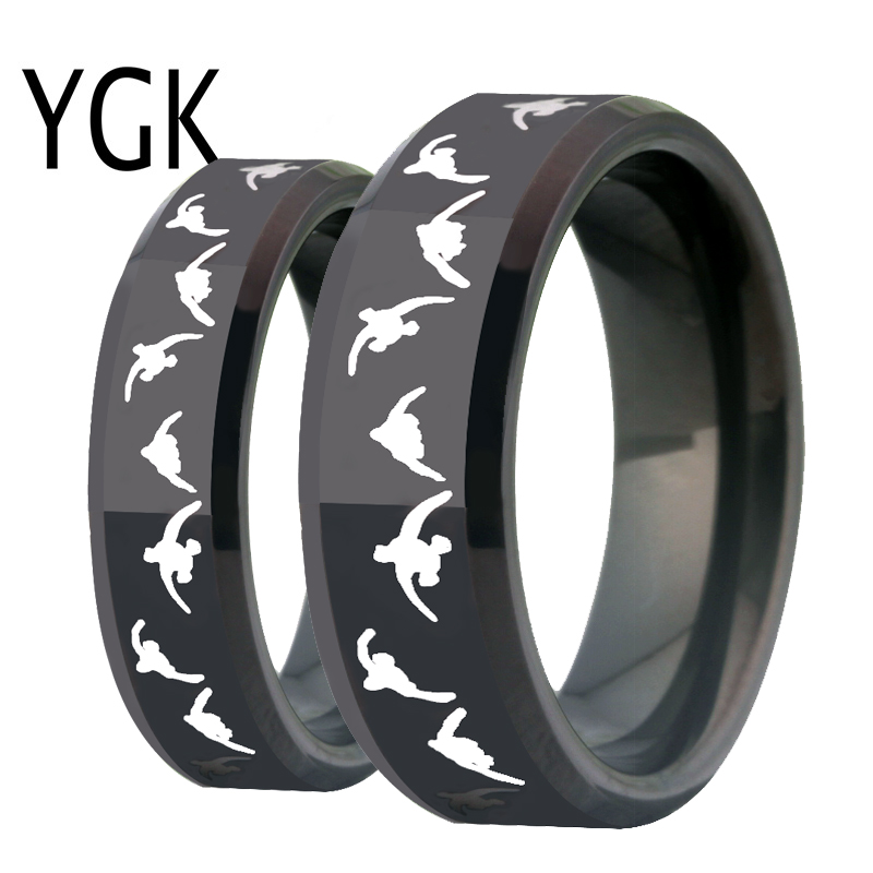 Fashion Tungsten Wedding Ring for Women Engagement Rings Men Lover Rings Black Hobbies Ring Duck Hunting Ring Party Gift Jewelry