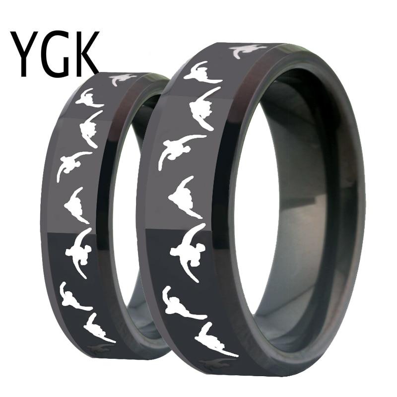 Modes volframa kāzu gredzens sievietēm saderināšanās gredzeniem vīriešiem Lover Gredzeni Melni Hobiji Gredzens Pīle Medību Gredzens Ballītes Dāvanu Rotas