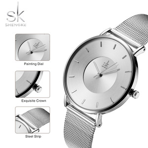 Image 5 - Shengke פשוט נשים שעונים 2020 גבירותיי שעוני יד Ultra דק קוורץ שעון אישה רסיס גבירותיי שעון Relogio Feminino SK