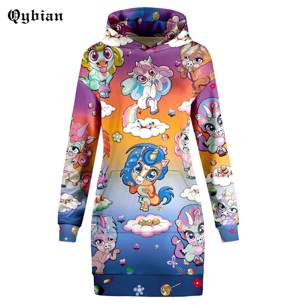 Rainbow horse Cartoon Animals Printed Sweatshirts Women brand pullovers Autumn winter 2018 jumper pull femme