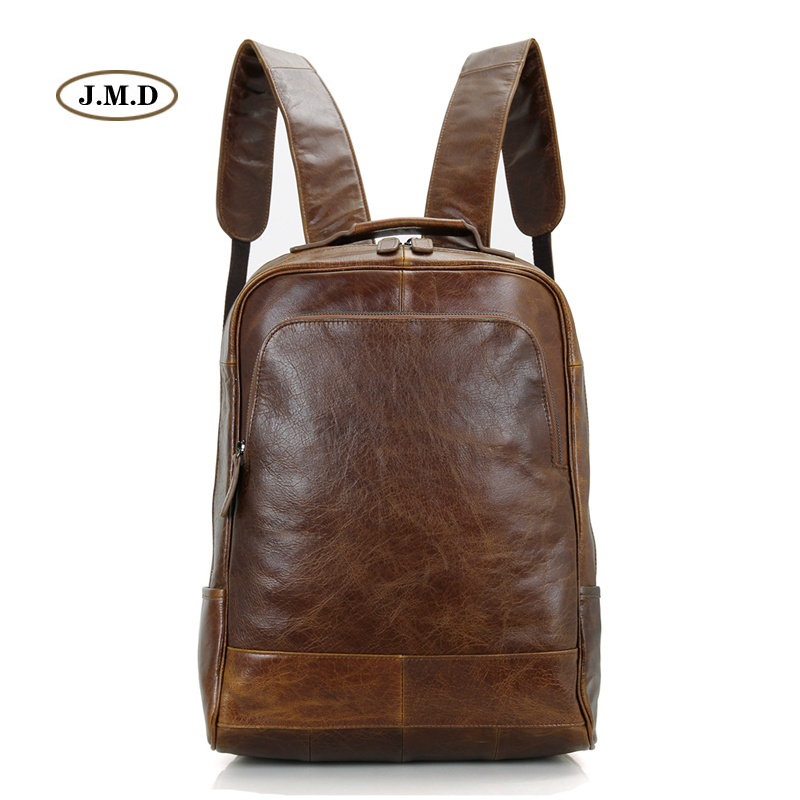 J.M.D Top Quality Genuine Leather Causal Fashion Style Backpack Travel Bag for Youth Unique Style Laptop Rucksack 7347B fashion style