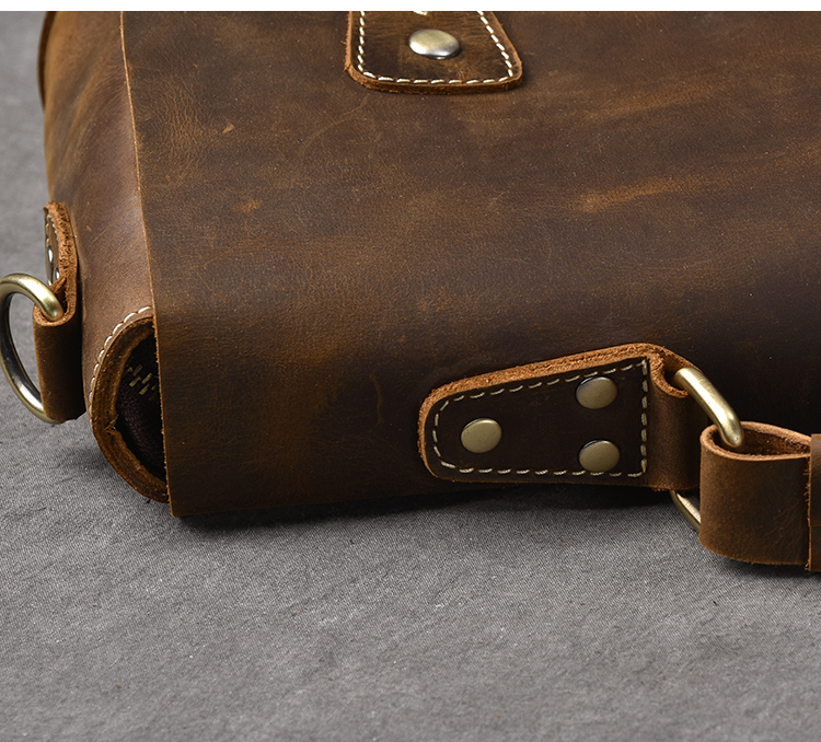 Luxury Leather Shoulder Bag close up