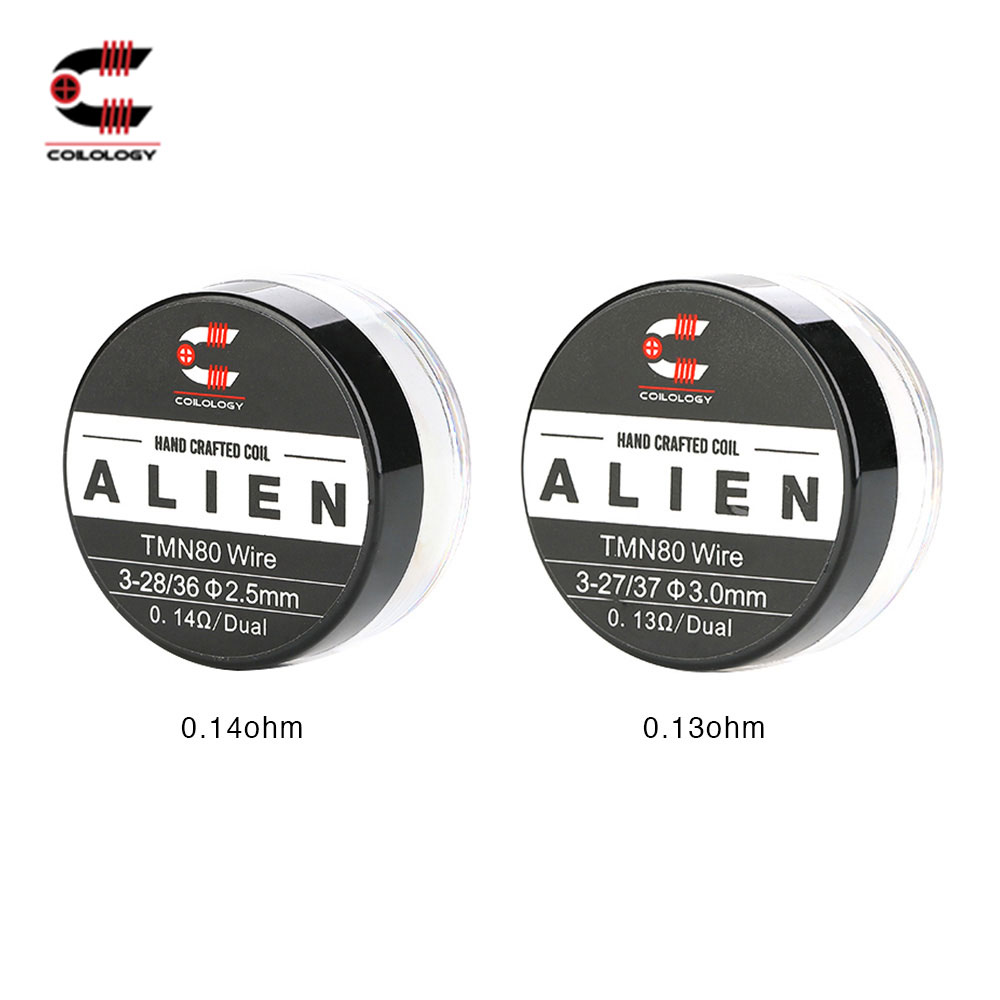 2pcs 100% Original Coilology Twisted Messes Alien Coil With Optional 0.13ohm/ 0.14ohm Resistance Ni80 Coils E-cig Vape Coil Part
