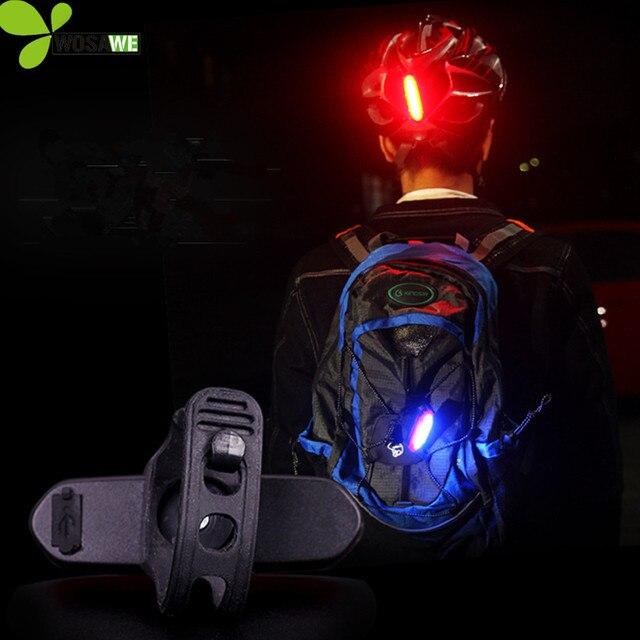 WOSAWE USB LED כבל נטענת אופני אורות IPX6 עמיד למים אופניים פנסים אחוריים תיק התראה לשינוי אופניים קסדות לייזר מנורה