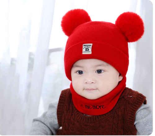 PUDCOCO ใหม่ล่าสุดเด็กเด็กทารกเด็กทารกฤดูหนาว Pompom Ball หมวกถักหมวกลำลองหมวก Bonnet
