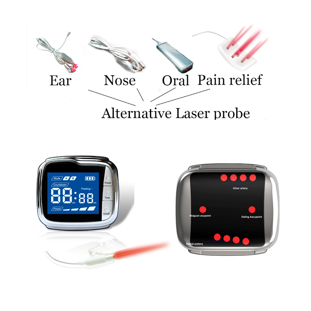 Lllt Laser Therapy Semiconductor Acupuncture Watch Therapy High Blood Pressure Fat Sugar Blood Clean acupuncture laser