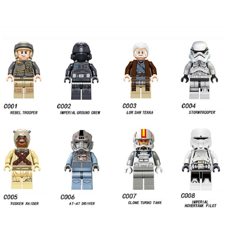 Single Sale Tusken Raider AT-AT Driver Lor San Tekka Imperial Ground Rebel Bricks Children Gift Toys  Compatible With Legoings