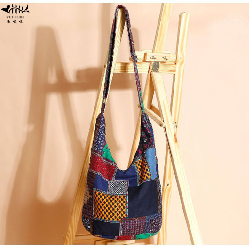 f61454fdb8 Adjustable Hippy Hippie Bohemian Bags Lady Girl Woman Sling Shoulder Cross  Body Bag Vintage Cotton Women s Handbag Bags
