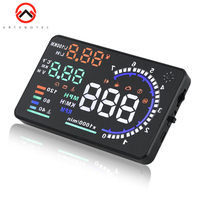A8 Car Head Up Display 5.5 HUD LED Windscreen Projector OBD2 Scanner Speed Warning Fuel Consumption Data Diagnostic For All Car