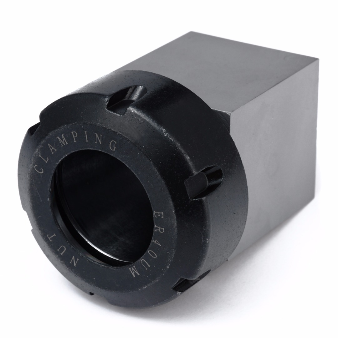 1pc Hard Steel ER 40 Square Collet Chuck Block Holder 3900 5125 45x45x75mm For Lathe Engraving
